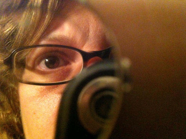 This is me looking into my watch's circular mirrored face