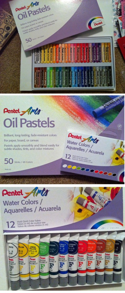 Pentel paints and pastels from Target