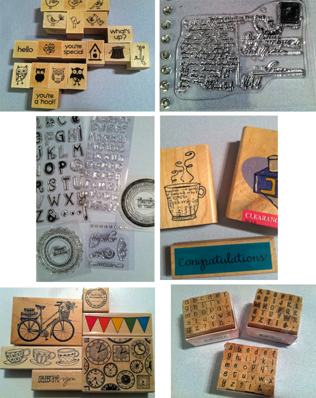 Clear and mounted stamps