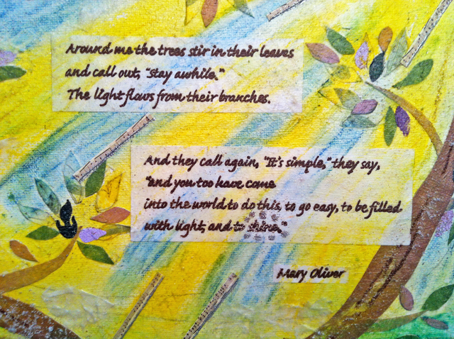 Mary Oliver canvas
