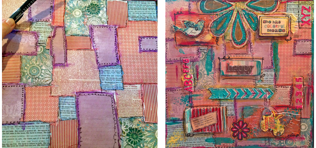 quilt before and after