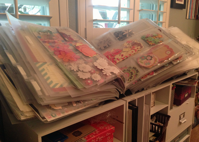 Organizing My Scrapbook Supplies