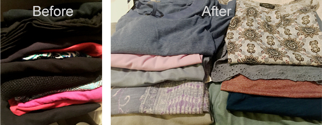 Clothes before and after